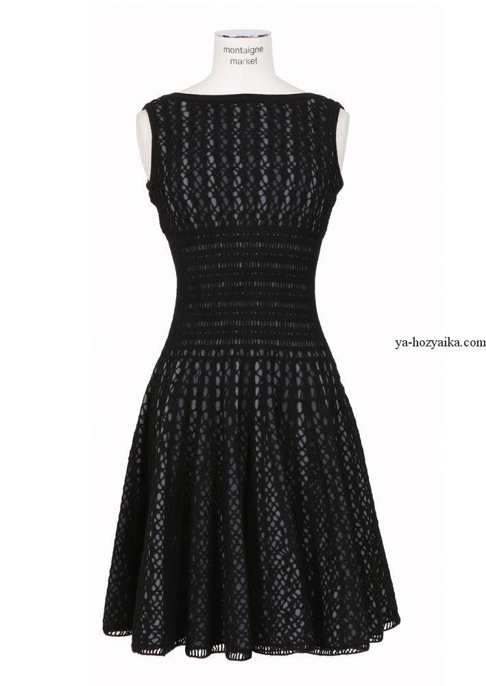 Платье крючком с пышной юбкой. Женские вязаные платья ...