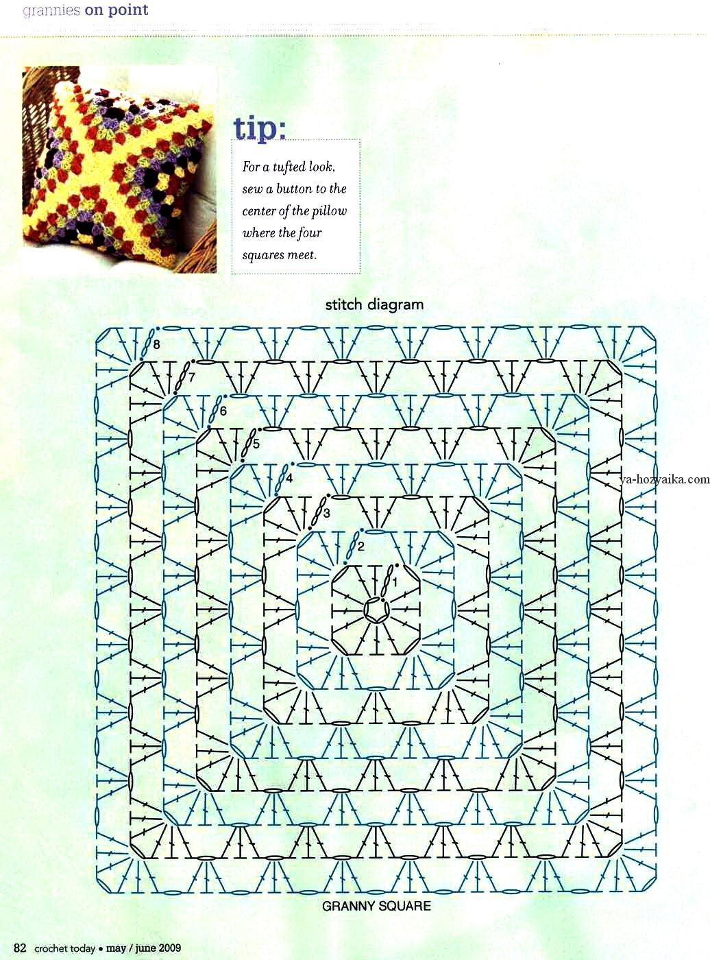 Схема вязания наволочек