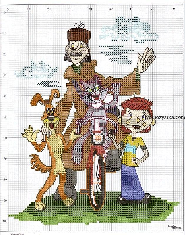 Схема вышивки крестом персонажи