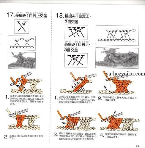 Схемы вязания спицами расшифровка схем 3