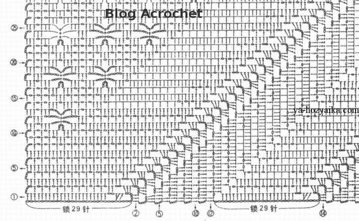 Вязание крючком по диагонали схемы пледы 24
