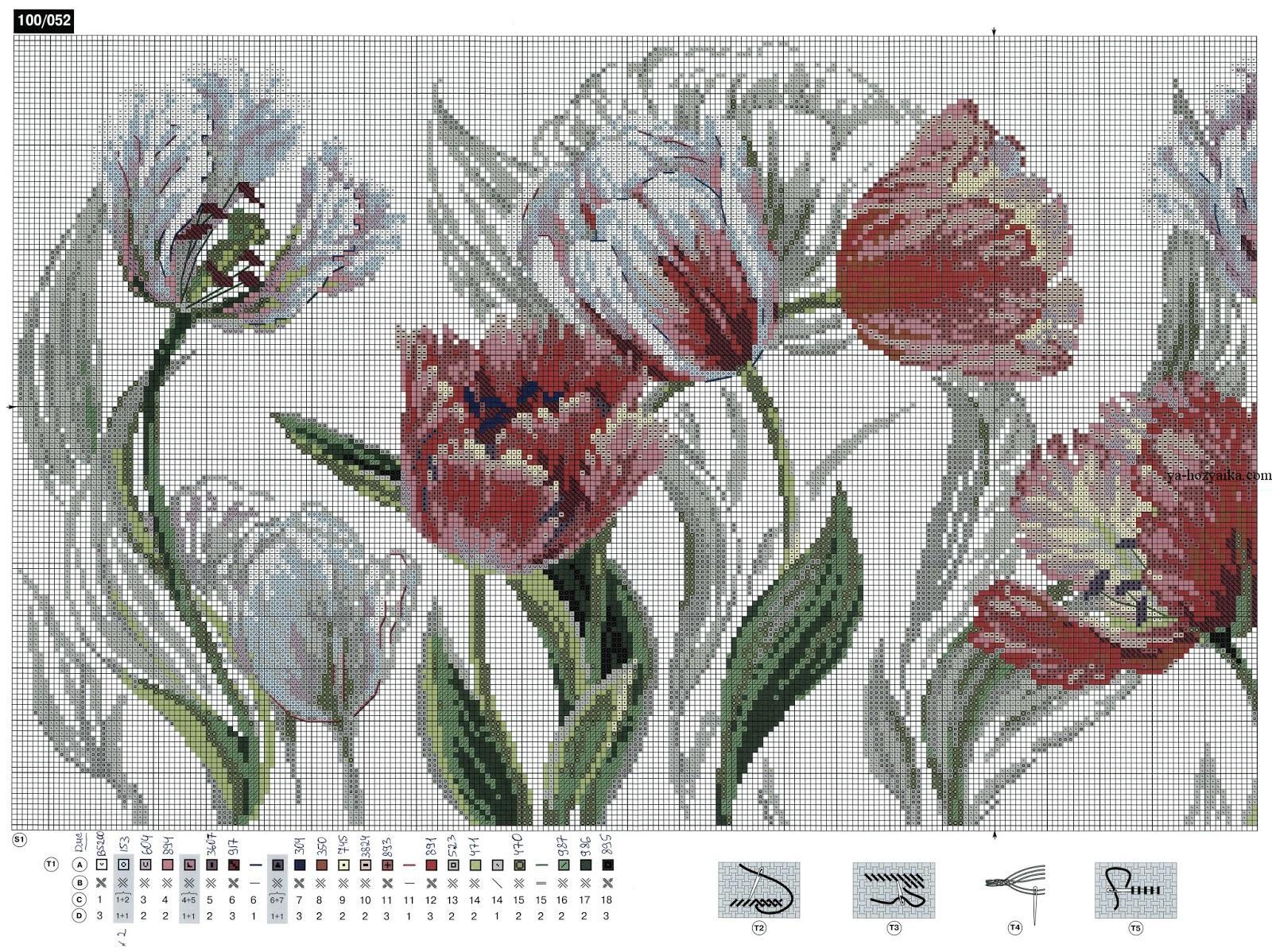 скачать бесплатно цветы вязание крючком