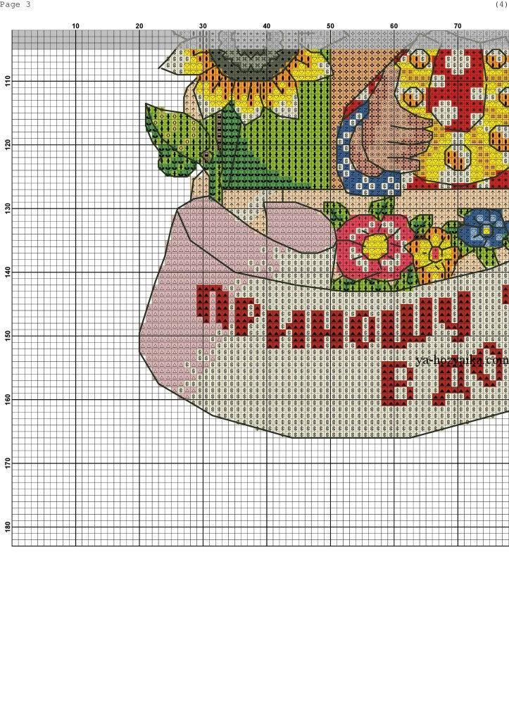 Кубышка схема вышивки крестом 50