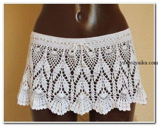 Пляжные юбки крючком схемы. Красивая схема юбки