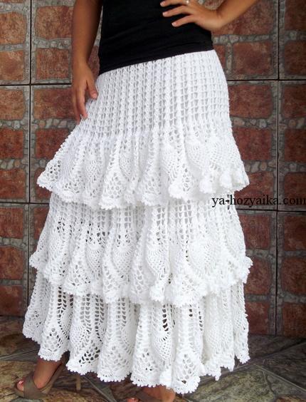 видео белая юбка с ананасами