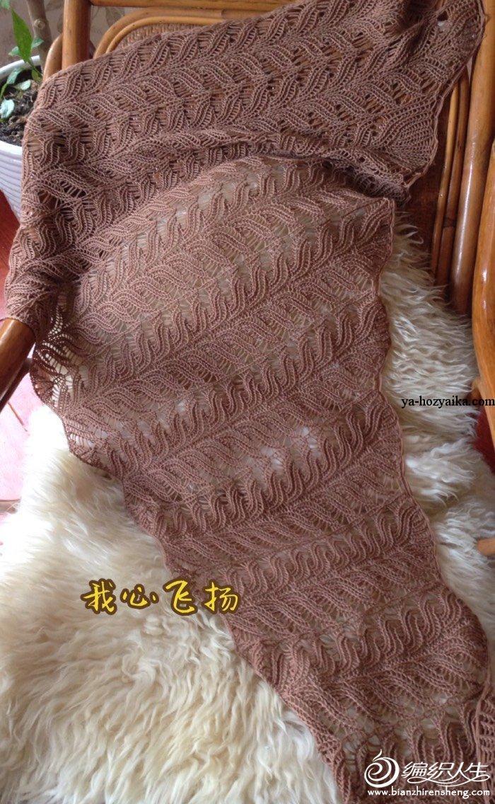 платок вязание ажурный