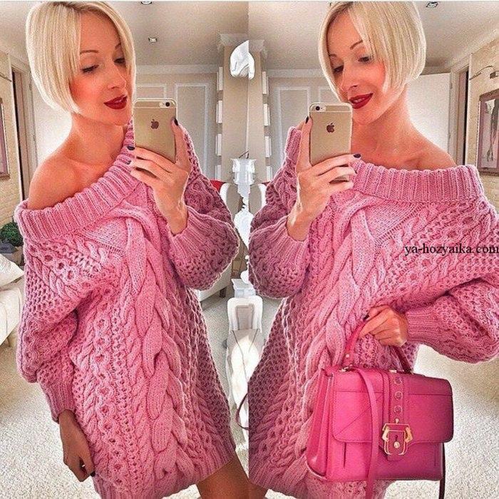 Объемный свитер в стиле Рубан