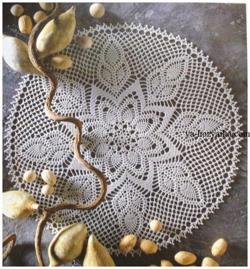 схема вязания салфетки для начинающих
