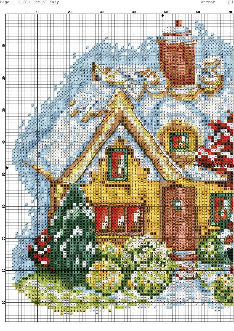 Сказочные домики вышивка схема 720