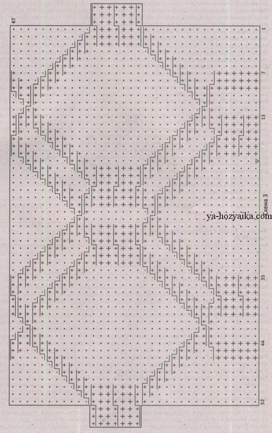 Вязаные подставки спицами со схемами
