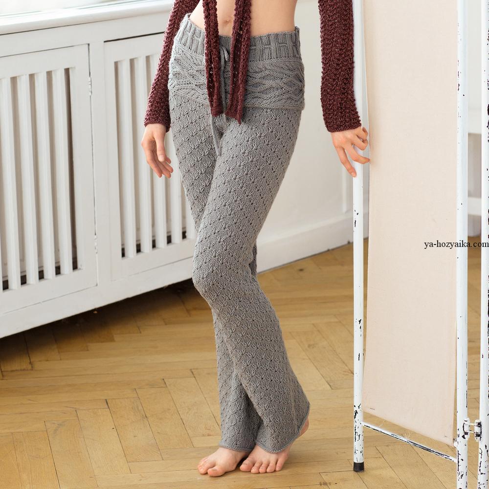 Вязаные брюки спицами. Женские штаны спицами с описанием