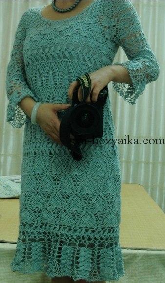 платье, узор, крючком, схема, японские схемы