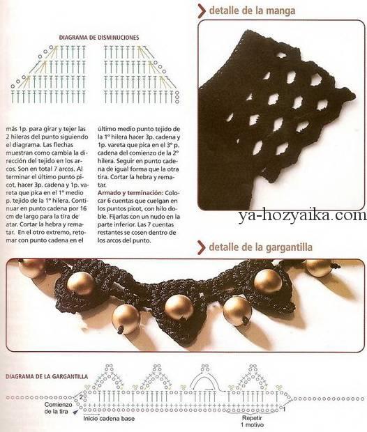 Вязанные мотивы крючком со схемами фото 910