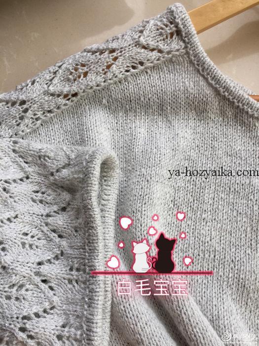 пуловер оверсайз с ажурными рукавами спицами вязание спицами