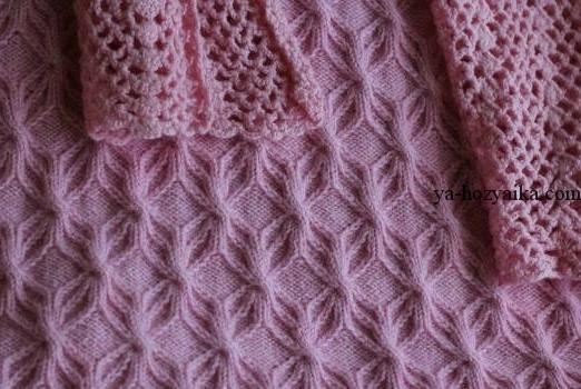 японские ажурные узоры для вязания спицами