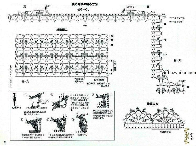 Вязание крючком схемы для лета