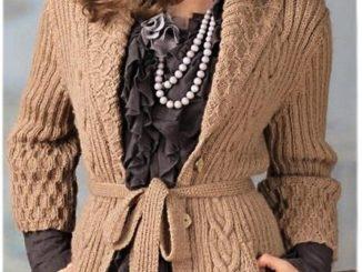 жакет, описание, вязание спицами, женский, описание