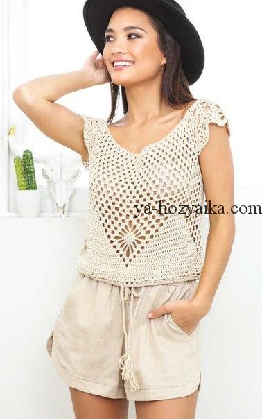 3dcf6208adf Очень красивая майка филейной сеткой. crops tejidos a crochet