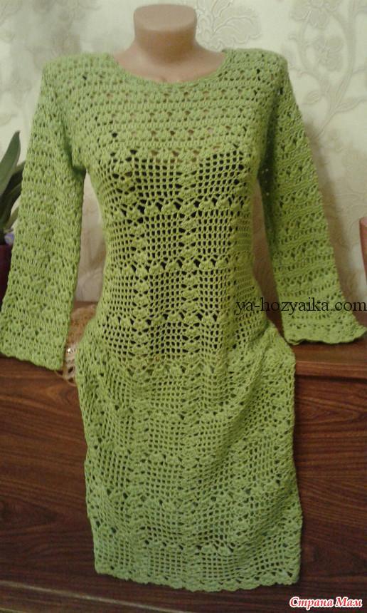 платье футляр крючком схемы ажурное платье крючком видео