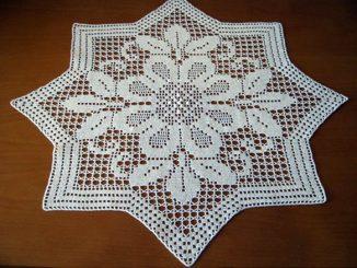 Восьмиугольная, ажурная, своими руками ,схема, салфетка