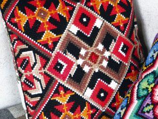 вышивка, подушка, декоративная, скачать схему