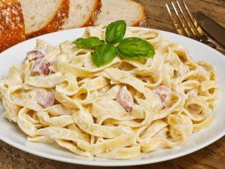 паста, с беконом, макароны, соус, рецепт ,итальянский