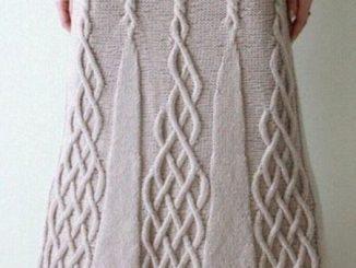 юбка, женская, теплая, схема, спицами