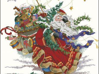 вышивка, схема ,бесплатно, новый год, дед мороз, подарки