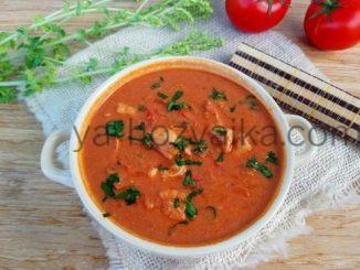 Суп с курицей и шампиньонами