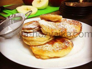 Яблочные оладьи с ванилью рецепт