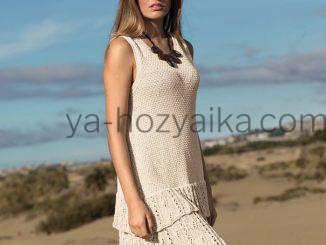 Платье с ажурными оборками